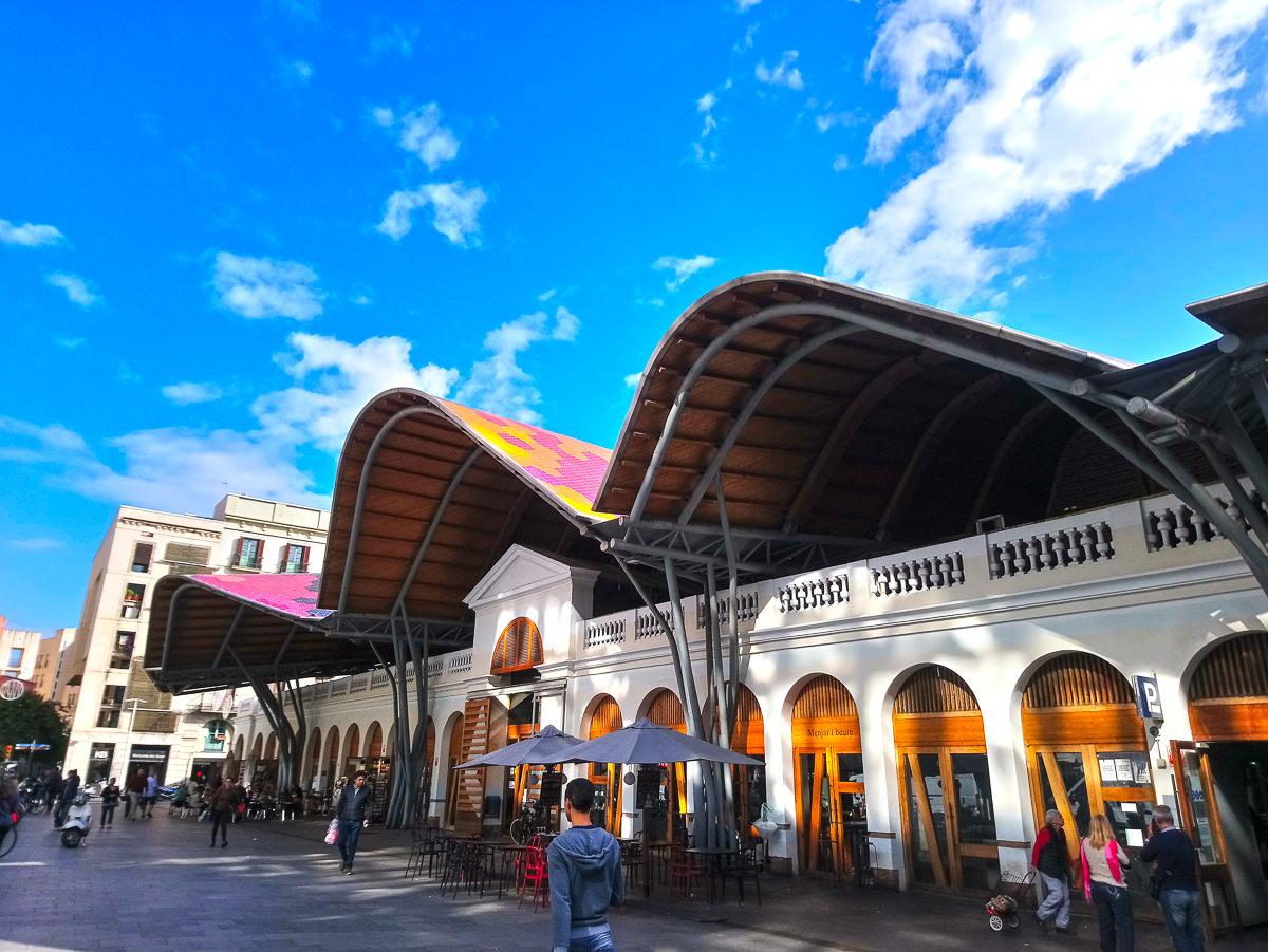 《西班牙巴塞隆納》聖卡特琳娜市場傳統市集就地取材輕鬆煮