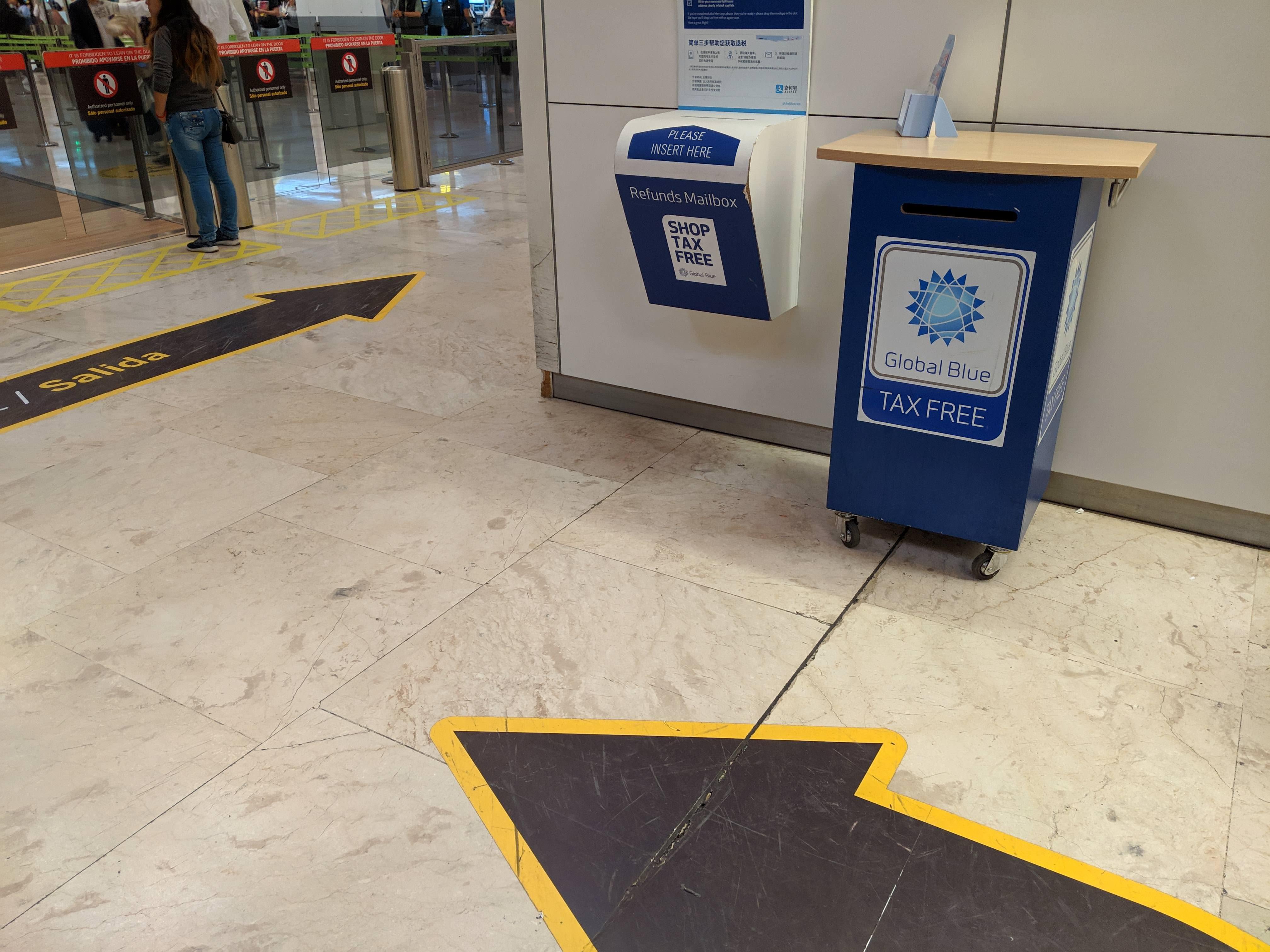 西班牙馬德里機場退稅tax diva退稅refund3