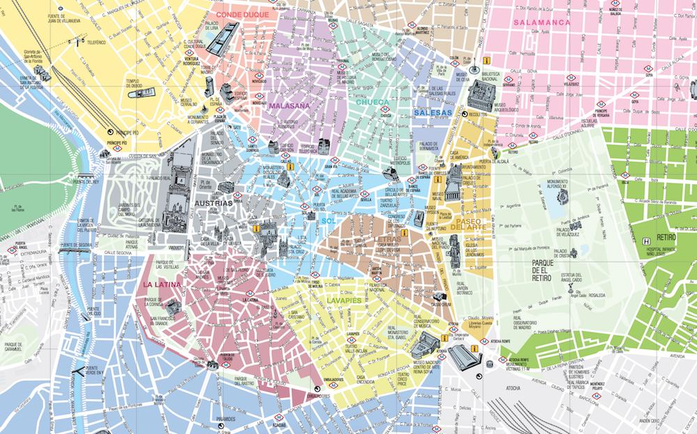 馬德里觀光地圖madrid mad