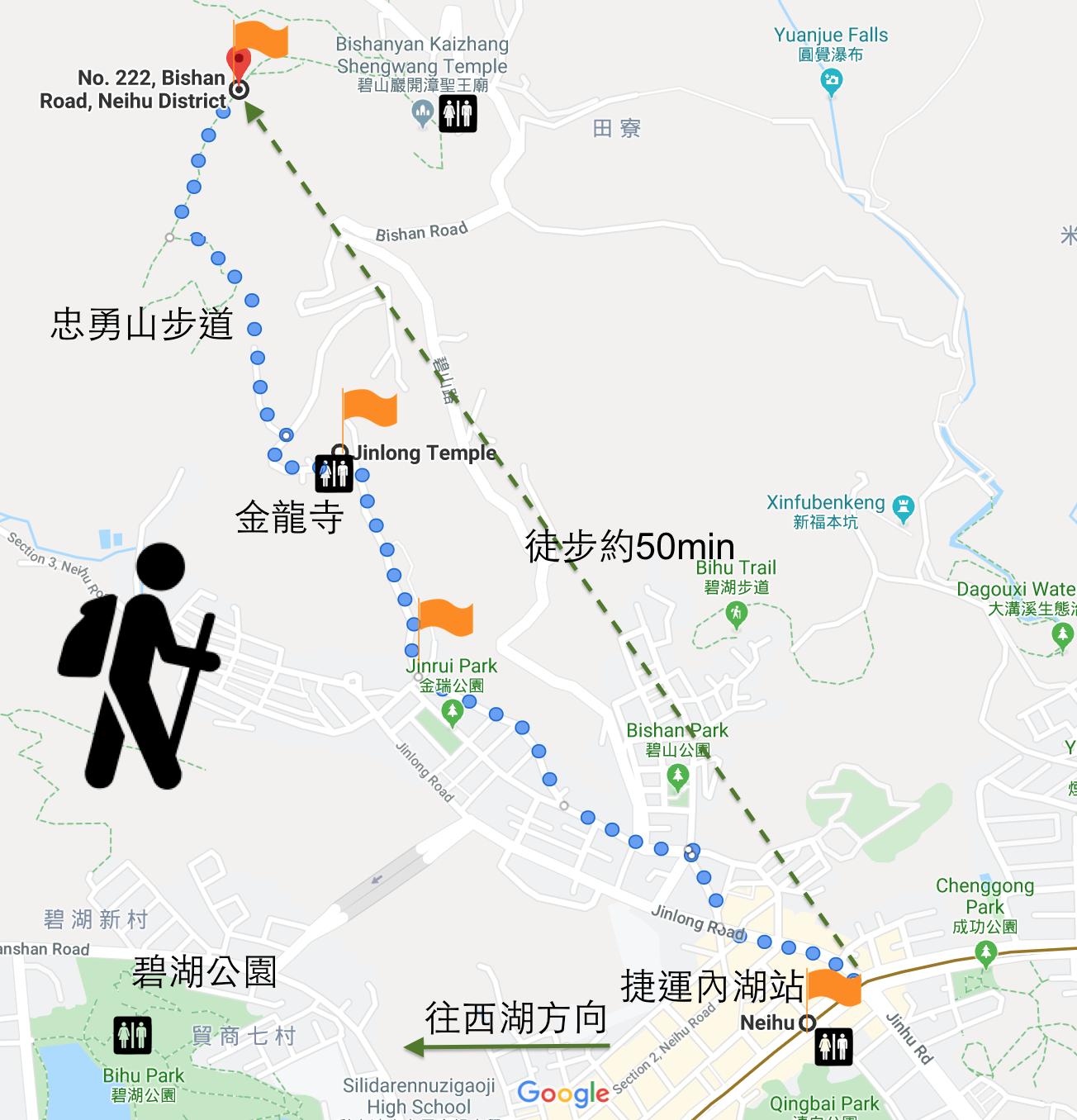 內湖登山健行步道假日郊遊忠勇山金龍