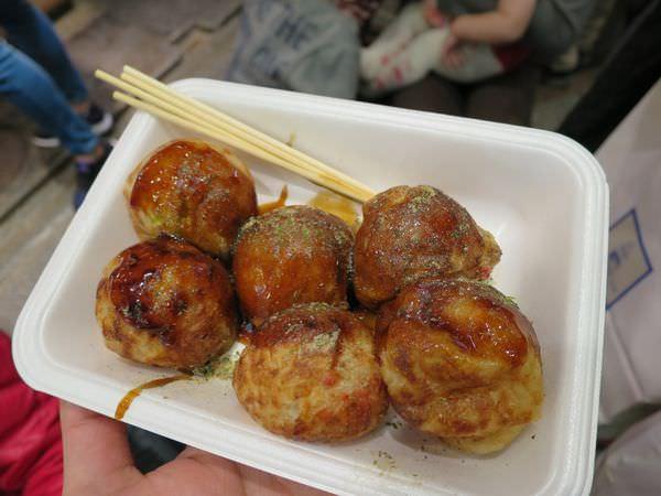 《日本》京都。錦市場。京都時下最夯的章魚燒 還是中央米穀最得我心