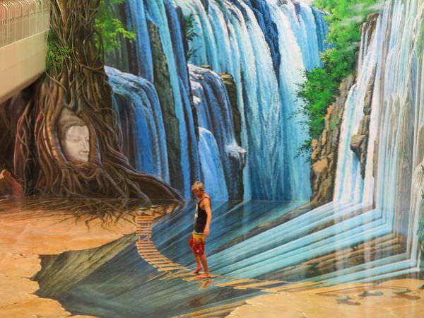 泰國清邁。3D錯覺藝術館。Art In Paradise 你也可以心想事成