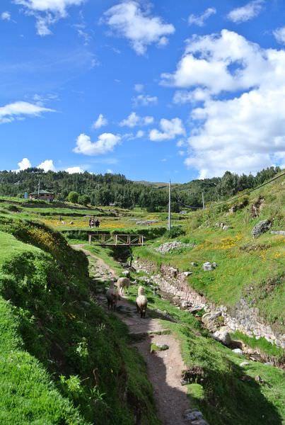 南美祕魯。庫斯科。Sacsayhuaman。性感女人~壯麗景致 恍如歐洲仙境風景